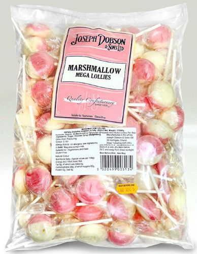DOB26 DOBSONS WRAPPED MARSHMALLOW MEGA LOLLIES x80